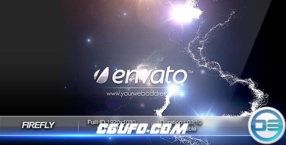 7524粒子特效logo演绎动画AE模版,Firefly