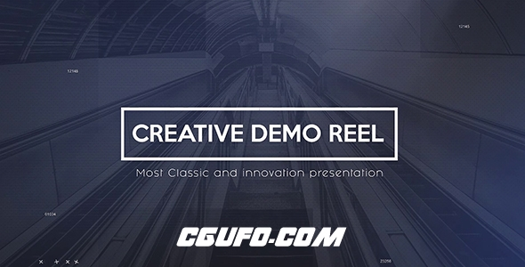 7533企业公司宣传创意文字标题动画AE模版,Creative Demo Reel