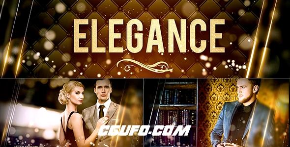 7544优雅大气图文展示动画AE模版,Elegance
