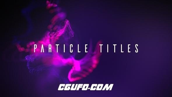 7547舞动粒子标题特效动画AE模版,Particle Titles