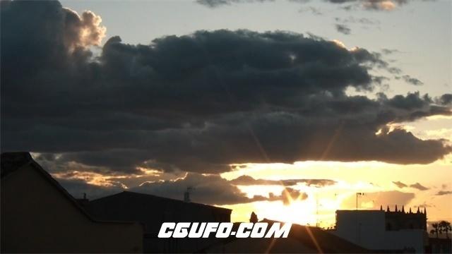 3372唯美的日落高清实拍视频素材