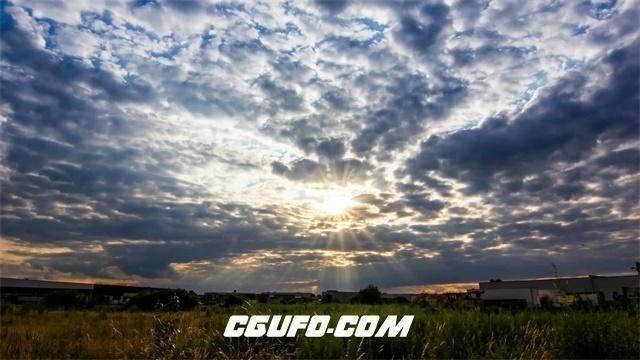 3373唯美多云日落高清实拍视频素材