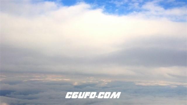 3390白云蓝天高清实拍视频素材