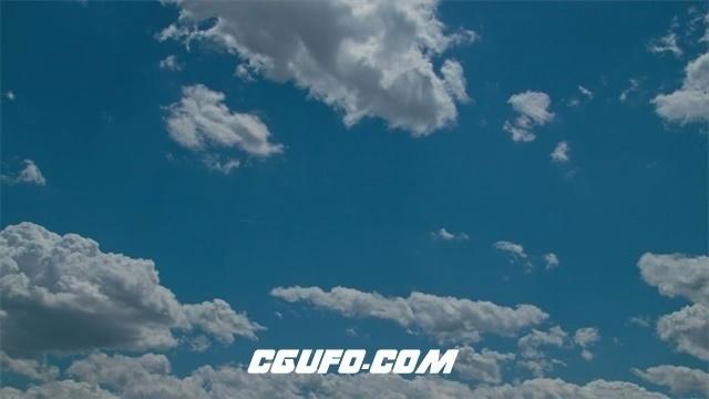 3392白云蓝天高清实拍视频素材