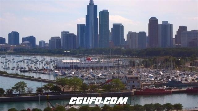 3401城市码头高清实拍视频素材