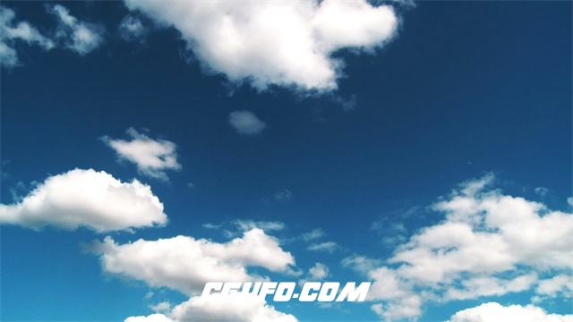 3453蓝天白云夏日阳光假期度假背景高清实拍视频素材