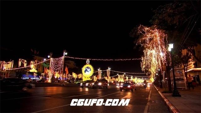 3470城市夜晚车流高清实拍视频素材