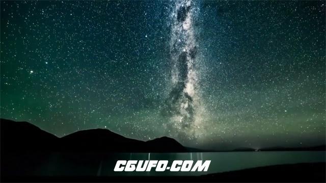 3481-梦幻唯美高山星空夜景如画般展示美景特写高清视频延时拍摄