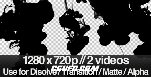 3517水墨转场特效动画高清视频素材