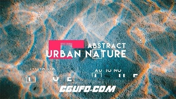 7579大气干扰特效城市宣传片包装动画AE模版,Abstract Urban Slide