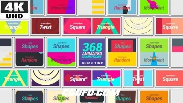 7584-368组转场过渡特效动画高清视频素材,368 Transitions 4K