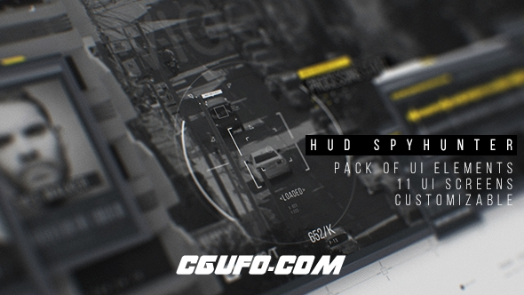 7585HUD高科技界面动画AE模版,HUD SpyHunter