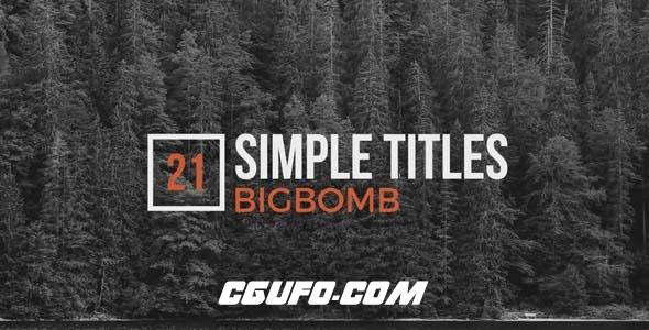 7618简洁标题文字特效动画AE模版,Simple Titles