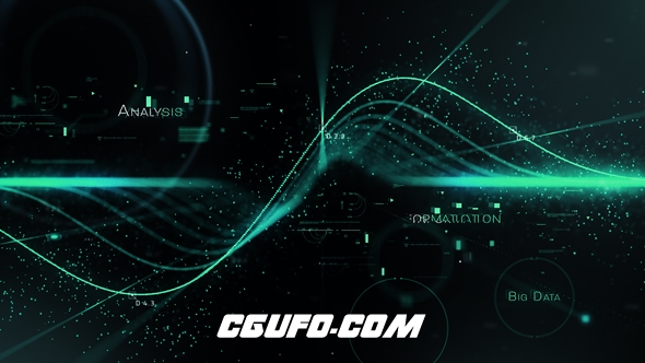 7619高科技粒子舞动特效动画AE模版,Science Opener