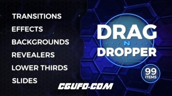 7622视频包装特效素材包动画AE模版,Drag-n-Dropper Motion Pack