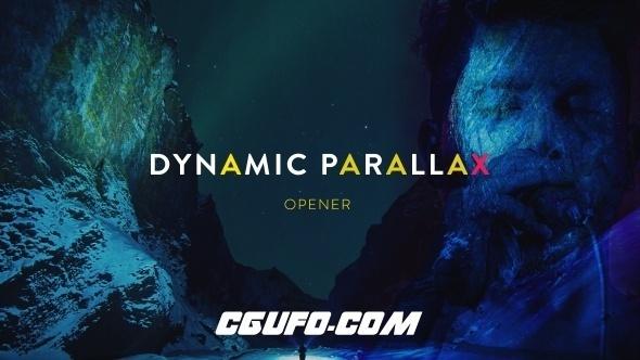 7630大气唯美图片展示动画AE模版,Dynamic Parallax Opener