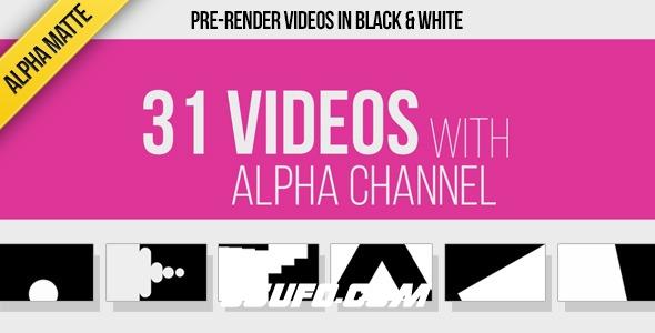 7633-31组创意转场过渡动画高清视频素材带Alpha通道,31 Transitions Alpha Mattes