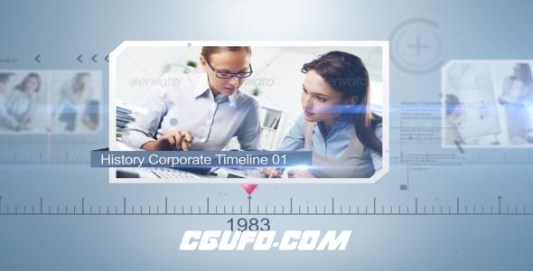 7634企业公司发展时间线宣传片包装动画AE模版,History Corporate Timeline