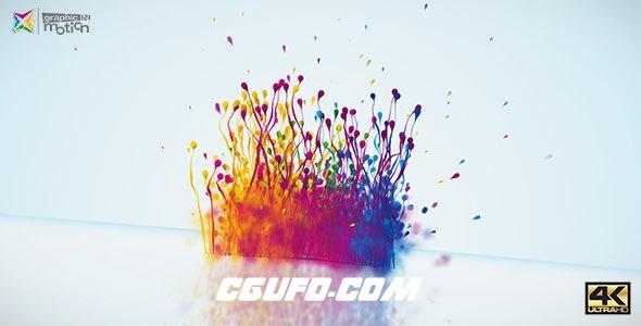 7637粒子迸发特效动画AE模版,Particles Splash Logo Reveal