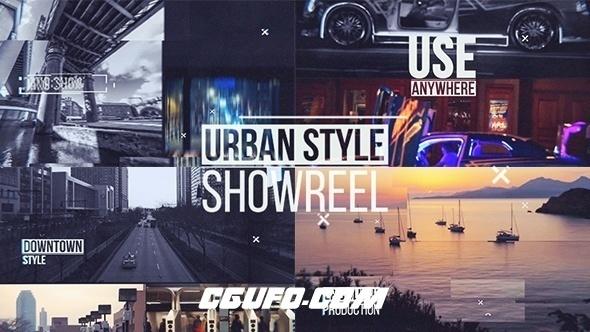 7639城市风光干扰特效动画AE模版,Urban Showreel