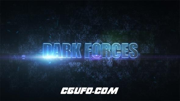7646黑暗电影预告片标题文字特效动画AE模版,Dark Forces