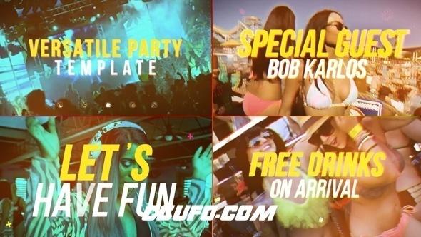 7675时尚人物生活视频包装动画AE模版,Versatile Party