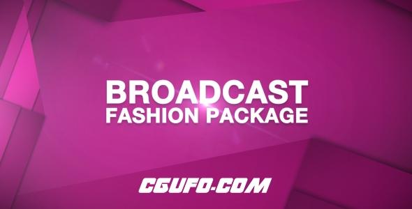 7695时尚电视栏目包装动画AE模版,Broadcast Fashion Package