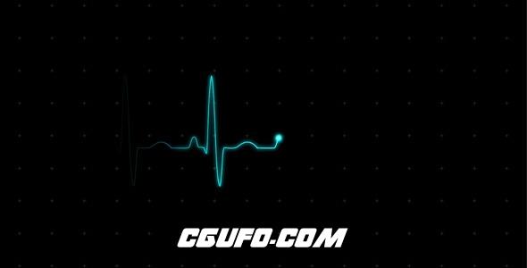 7705心电图监视器动画高清视频素材,EKG (Heartbeat Monitor – Electrocardiogram)