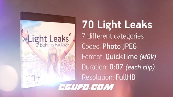 7708光效视频包装特效动画高清视频素材包,Light Leaks & Bokehs Package