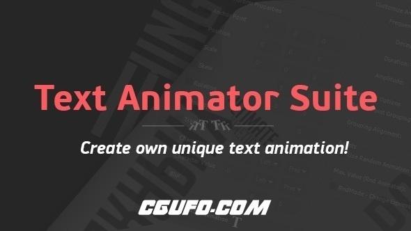 7720创意文字标题动画AE预设AE脚本内含安装说明,Text Animator Suite