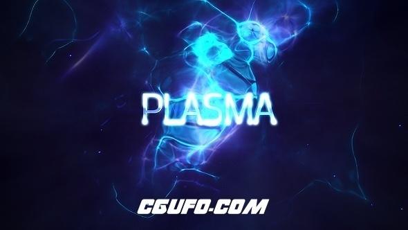 7721-4K能量标题动画AE模版,Power Light Plasma Titles 4K