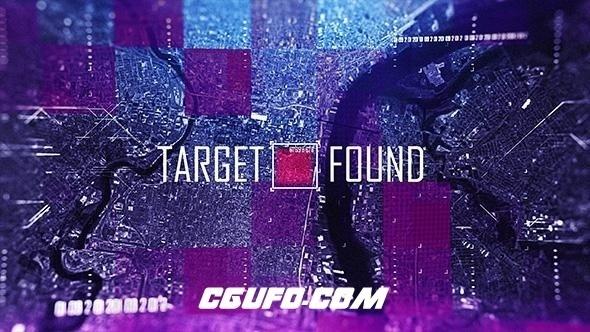 7737高科技风格人物展示动画AE模版,Target Found