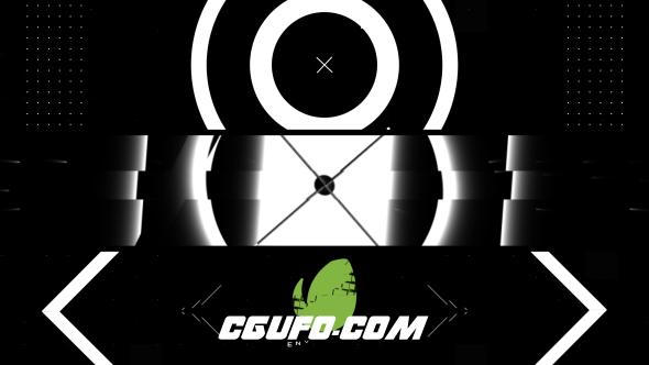 7741黑白风格简洁logo演绎动画AE模版,Black White Intro