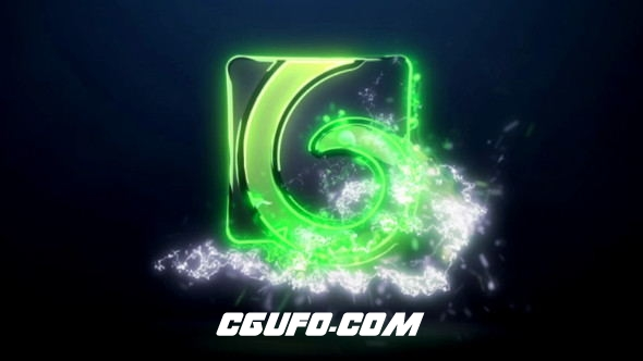 7744电流特效logo演绎动画AE模版,Electric Logo Reveal