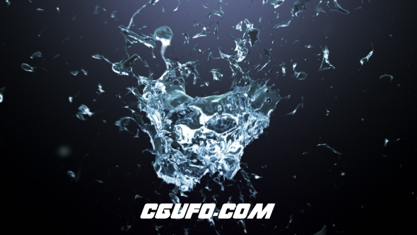 7747流体特效logo演绎动画AE模版,Splash Logo Reveal