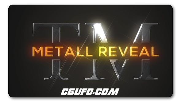 7750金属logo演绎动画AE模版,Bright Metallic Logo Reveal