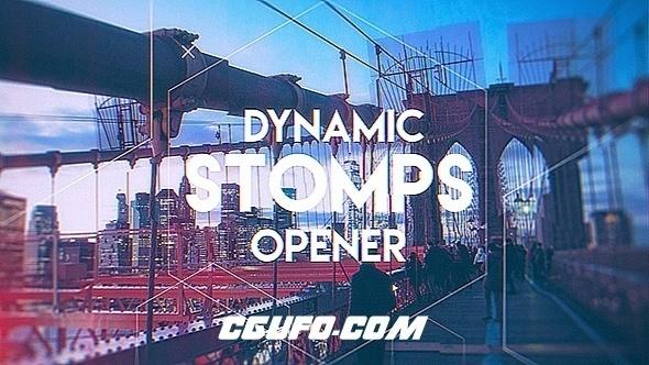 7753动态图片开场特效动画AE模版,Dynamic Stomps Opener
