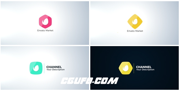 7757简洁MG动画logo演绎AE模版,Clean Logo Reveal