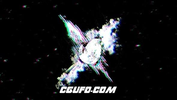7758信号干扰特效logo演绎动画AE模版,Glitch Logo