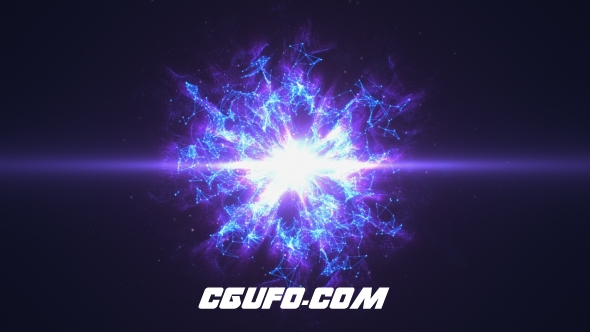 7782绚丽Plexus粒子特效动画logo演绎AE模版,Plexus Logo Reveal