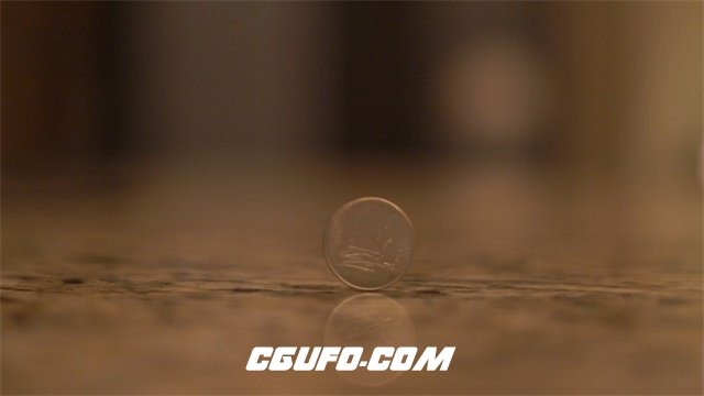 3540-4K硬币旋转反正面高清实拍视频素材