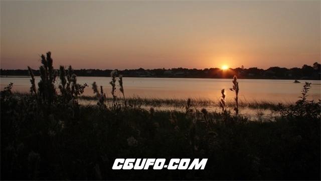 3552河边日落美景高清实拍视频素材