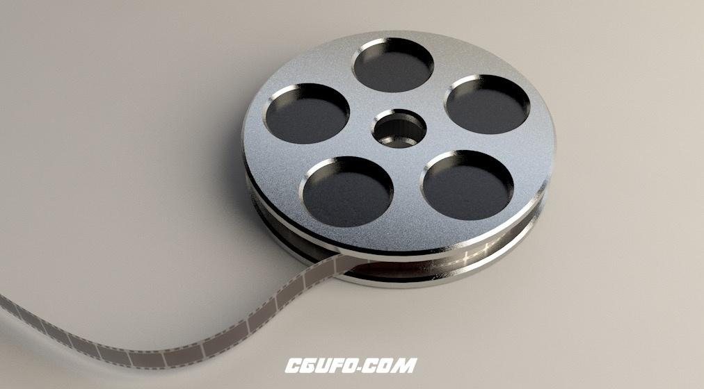 电影胶片卷轴C4D模型 Film Spool  3D Model
