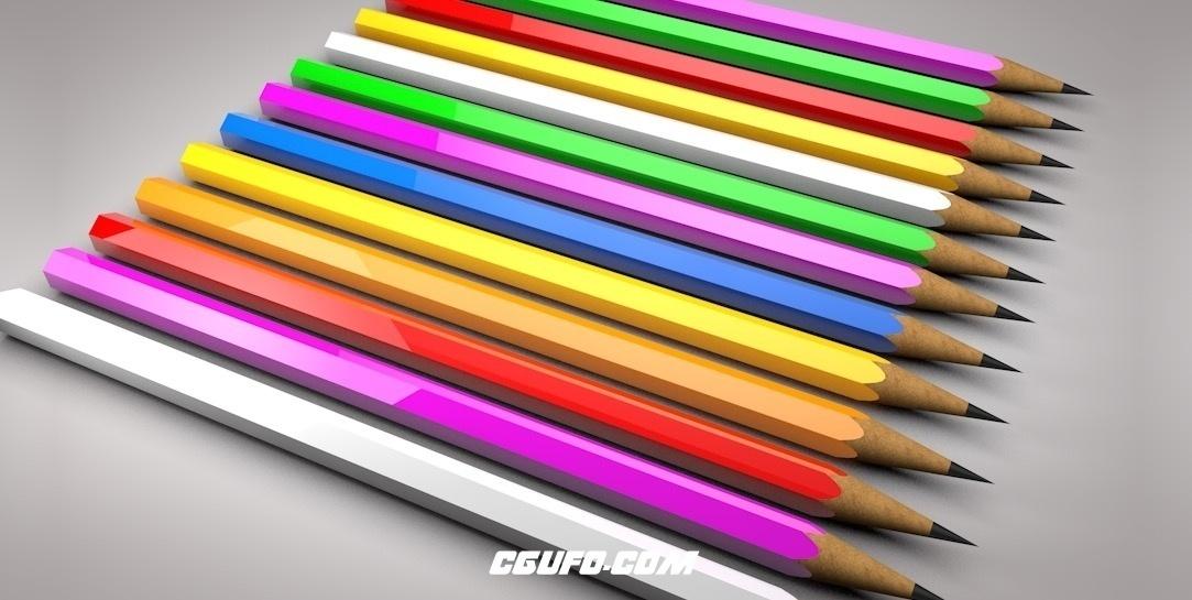 铅笔C4D模型 Pencile Model