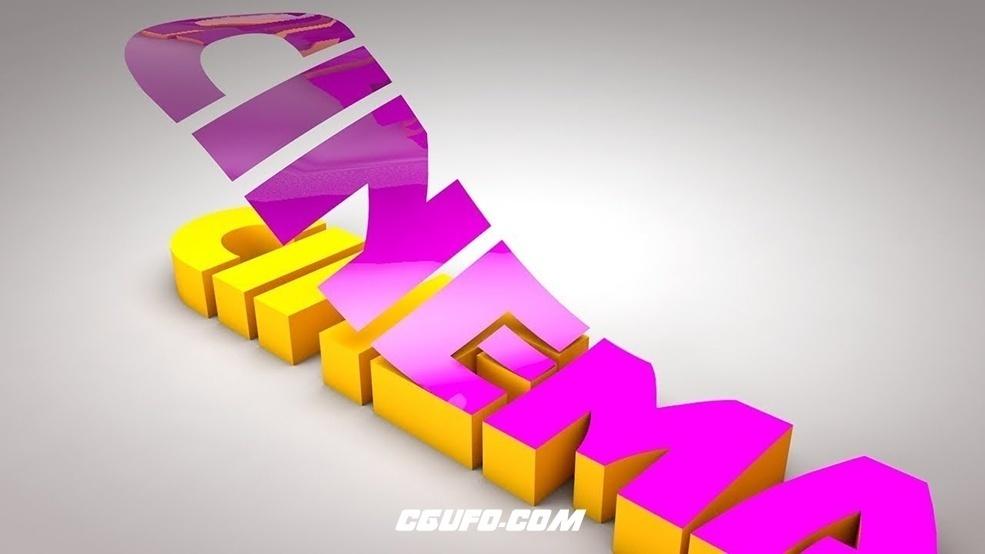 C4D文字表层掀起动画工程文件 Text Folding Polygons
