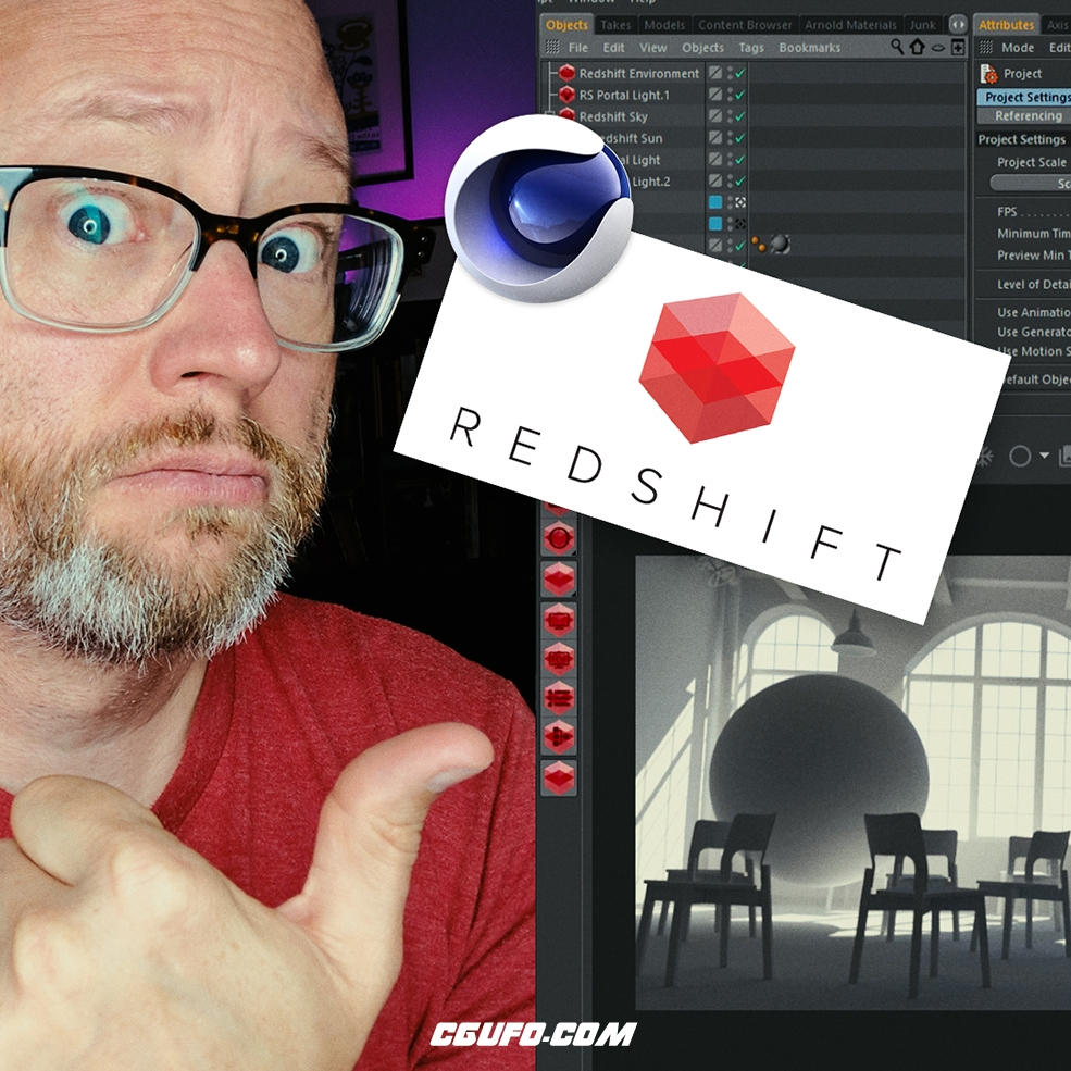 C4D GPU渲染引擎Redshift基础入门视频教程Getting to Know Redshift for Cinema 4D