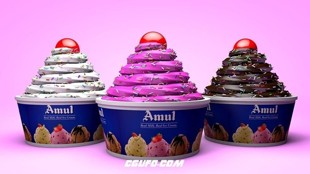 冰淇淋C4D模型 ice cream