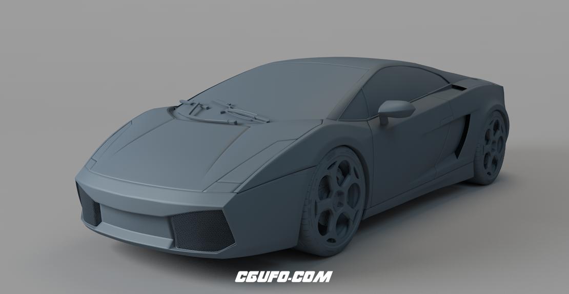 兰博基尼跑车C4D模型(白模)Lamborghini car model
