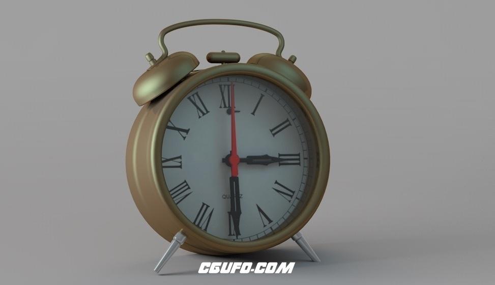 闹钟C4D模型 alarm clock