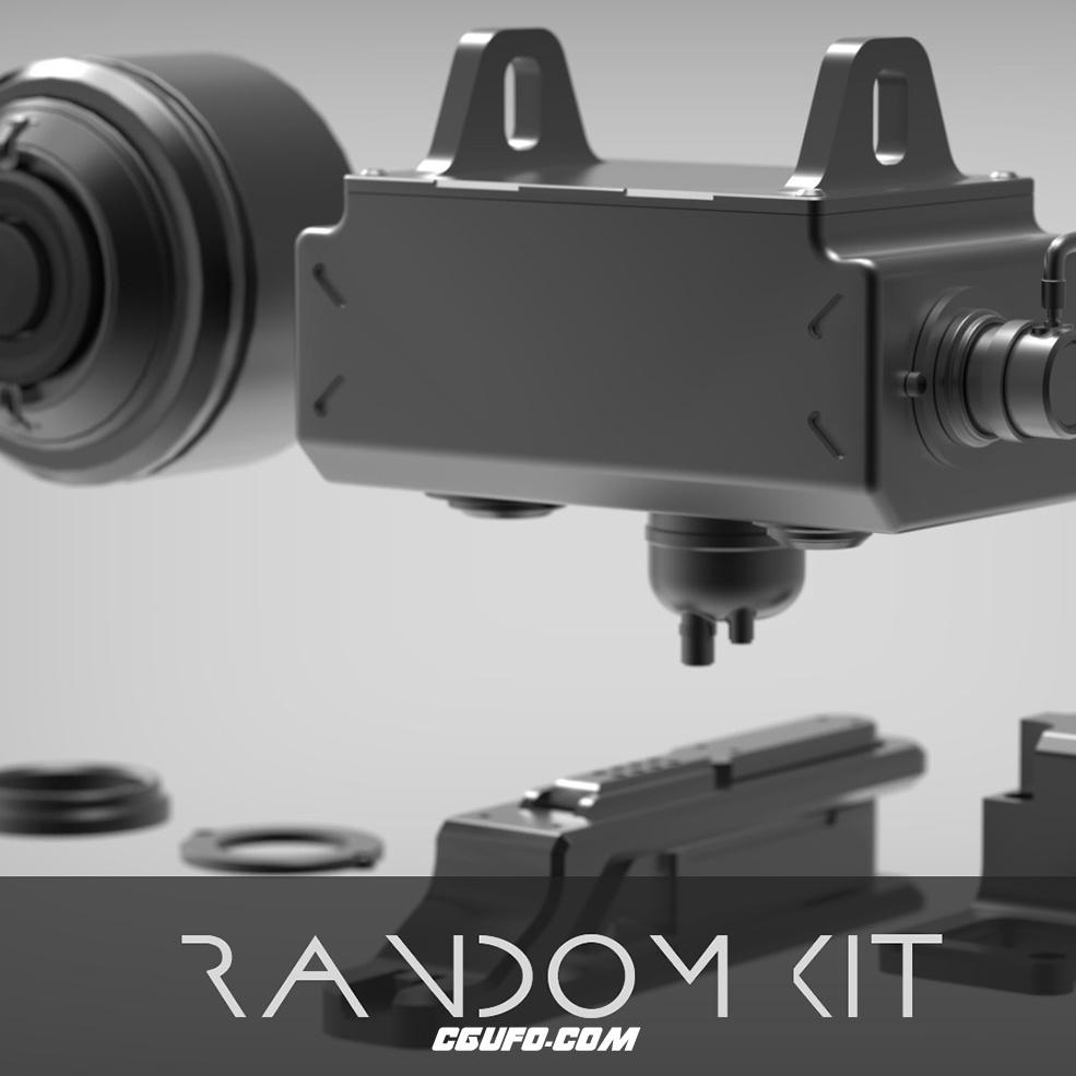 科幻机械C4D模型 Random Kit_Tam Nguyen